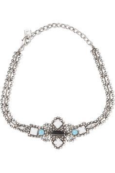 Odell Oxidized Silver Crystal Choker - one size Dannijo Xmdo0Tp8
