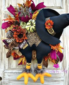 Your place to buy and sell all things handmade Autumn Wreaths For Front Door, Fall Door, Front Door Decor, Fall Wreaths, Turkey Wreath, Fall Deco Mesh, Scarecrow Wreath, Door Swag, Velvet Pumpkins