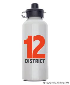24 Hours ONLY!!!  The Hunger Games District 12 Water Bottle ON SALE 24 by sassyalice, $15.00