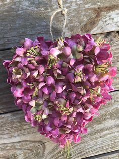 Property of Personalized Traditions - Heart Hydrangea Kissing Ball