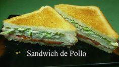 Sandwich de pollo, receta casera