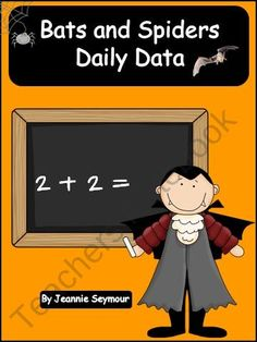 Bats and Spiders Daily Data from Mrs Seymours 1st Grade on TeachersNotebook.com (15 pages)