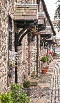 Line of houses in Kirkby Lonsdale, England