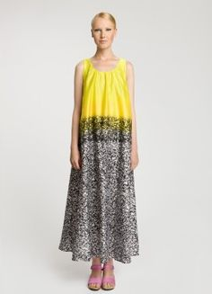 Yellow and black pattern, Marimekko Fashion Mode, Runway Fashion, Fashion Outfits, Womens Fashion, Fashion Clothes, Marimekko Dress, Frocks, Spring, Dress Skirt