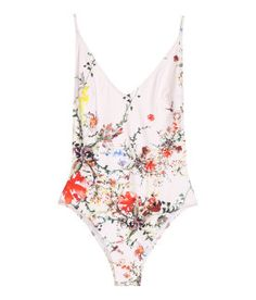 Fully lined swimsuit with a printed pattern. V-neck f851c56834927