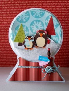 too cute! penguin snowglobe
