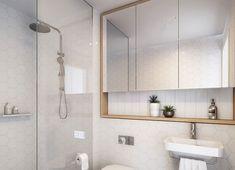Above sink recessed shelves with mirror door in bathroom Bathroom Mirror Storage, Diy Bathroom Decor, Bathroom Layout, Small Bathroom, Bathroom Recessed Shelves, Bathroom Ideas, Bathroom Inspo, Bathrooms, Mirror With Shelf