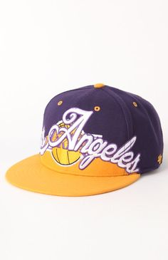 Forty Seven Brand Lakers Bigz Script Snapback Hat