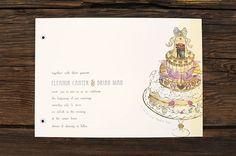 Layered Wedding Cake Wedding Invitation/Announcement