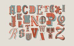 Drop Cap alphabet - series contains nine different styles of type, two overlapping colours and a line screen on each letter to unify the group. Typography Letters, Typography Poster, Graphic Design Typography, Hand Lettering, Calligraphy Letters, Doodle Frames, Alphabet Wallpaper, Hand Drawn Type, Hand Type