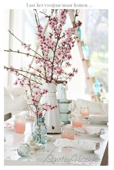 Cherry bloom #wedding #centerpiece idea - get inspired at diyweddingsmag.com
