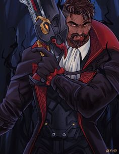 The edgelord reaper Overwatch Reaper, Overwatch Fan Art, My Hero Academia Costume, Soldier 76, Video Game Art, Video Games, My Fantasy World, Widowmaker, Afro Art