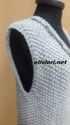 Pirinç Örgü Modeli İle Örülen Yelek Modeli – El İşlerimiz Knitting, Tricot, Knits, Sweater Vests, Crocheting, Tejidos, Breien, Stricken, Weaving