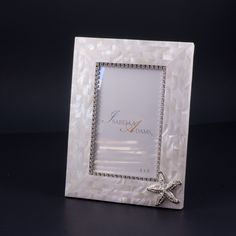 4 x 6 Mother of Pearl Starfish Picture Frame Featuring Swarovski © Crystals