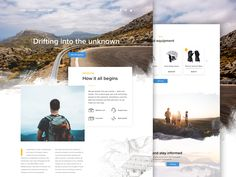 Hiking Journeys Concept by Valeria Rimkevich #Design Popular #Dribbble #shots