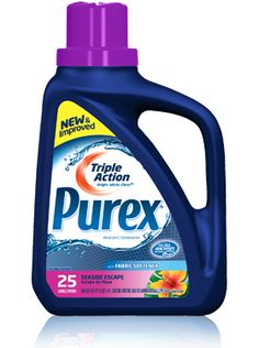 *DISCONTINUED PRODUCT* Purex Triple Action liquid detergent with Fabric Softener - Seaside Escape: For a deep-down clean you can see, feel, and smell.