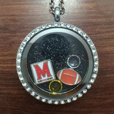 University of Maryland Terrapins Football floating charm necklace $27.99