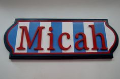 Wood Name Door Hanger on Etsy, $35.00 this would be so cute for JD's firetruck room.