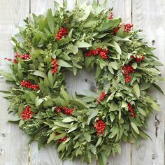 Red Berry Bay Wreath by Circle Home and Design Christmas 2017, Christmas Wreaths, How To Make Wreaths, Greenery, Berries, Floral Wreath, Etsy Seller, Holiday Decor, Creative