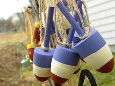 wedding favor lobster buoys beach nautical decor wine bottle charms. $20.00, via Etsy.