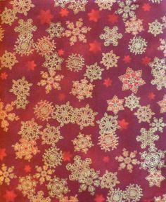 Cotton Fabric, Quilt, Home Decor, Craft Fabric, Christmas, Holiday Flourish, Snowflakes, Kaufman Fast Shipping