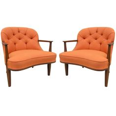 Pair of Armchairs by Edward Wormley for Dunbar  USA  1950's  Great pair of armchairs by Edward Wormley from the Janus Collection.