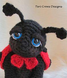 """Ladybug-mariquita crochet Free pattern ( ir a """"sitio Web"""" y click en """"download"""" para descargar PDF pattern)"""