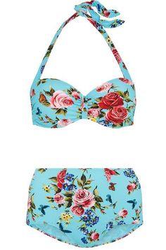 c2184dd172ad6 Blue Bikini, Halter Bikini, Bikini Swimwear, Swimsuits, Bikinis, Halter  Neck,