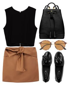 """""""Moonage daydream"""" by fatima-muniz-alvarez ❤ liked on Polyvore featuring Tod's, Zara, Tory Burch, Ray-Ban and N°21"""