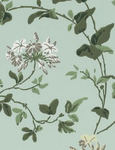 Plumbago wallpaper from Cole and Son, available through Tangletree Interiors. Interior Walls, Interior Design, Cole And Son Wallpaper, Henri Matisse, Fabric Wallpaper, Motifs, Textile Design, Flower Patterns, Guest Room