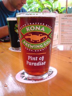 Kona brewery in kona Hawaii.. Cool brewery, really good fish tacos, and chill but lively ambiance.. Beers I liked: hula hefe, firerock pale, coffee stout, lavaman red ale, castaway ipa, barleywine