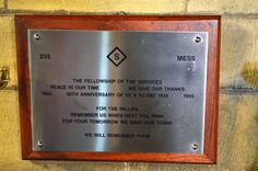 Barnsley War Memorials Project: Thurgoland The Fellowship of the Services Memorial Plaque, Holy Trinity Church