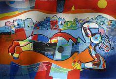 "Yoel Benharrouche (Israel, born 1961)  ""Terre du Ciel- Heaven's Earth"" ~   terrograph ~  27.5""x 41.5"" ~  2011"