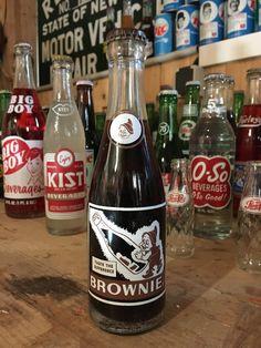 Vintage Brownie soda bottle full