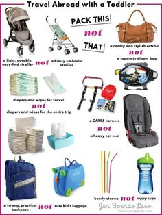 Planning to travel abroad with a toddler Rethink yourmust haves for easier packing and more adventure. Jen shares her best packing tips for toddler travel Toddler Travel, Travel With Kids, Family Travel, Travel Tips With Baby, Family Vacations, Packing Tips For Travel, Travel Essentials, Travel Hacks, Travel Deals
