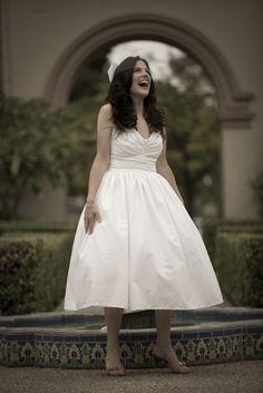 Brigitte - 1950's inspired tea length wedding dress