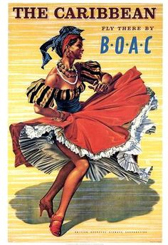 Caribbean Tourism - British Overseas Airways Corporation (BOAC) - Vintage Airline Ad
