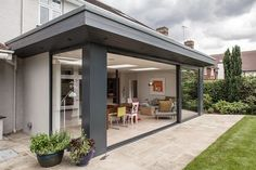 Essex's best modern family home Rear Extension: Modern Houses by Nic Antony Architects Ltd House Extension Plans, House Extension Design, Glass Extension, Extension Designs, Roof Extension, Extension Ideas, Bungalow Extensions, Garden Room Extensions, House Extensions