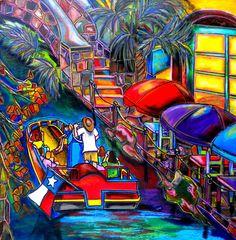 Riding The River Painting by Patti Schermerhorn