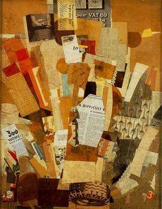 Kurt Schwitters, (Difficult), 1942-43, collage, 80 x 61 cm, Albright-Knox Art Gallery, Buffalo, New York