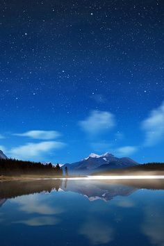 FREEIOS7 | night-lake-in-blue | freeios7.com