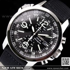 BUY Seiko Solar Chronograph Nylon Strap Military Watch SSC135P1, SSC135 - Buy Watches Online | SEIKO NZ Watches