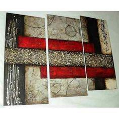 Cuadros Abstractos Con Texturas Y Alto Relieve - S/. 390,00