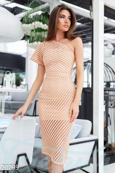 Gepur | Платье сетка неопрен арт. 20299 Цена от производителя, достоверные описание, отзывы, фото ,Цвет:пудрово-розовый