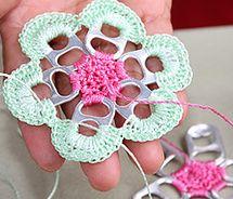 Pop Top Crochet Flower