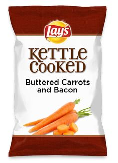 Wouldn't Buttered Carrots and Bacon be yummy as a chip? Lay's Do Us A Flavor is back, and the search is on for the yummiest chip idea. Create one using your favorite flavors from around the country and you could win $1 million! https://www.dousaflavor.com See Rules.