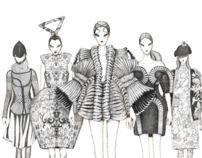 Fashion illustration for Fashionary by Vikki Yau, via Behance