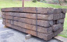 We supply reclaimed hardwood and new softwood railway sleepers for use in the home, garden and landscaping industry.