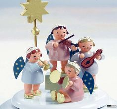 Music Box Angels Concert - Wooden Music Boxes (01-13-014)