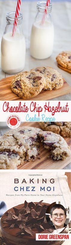 Chocolate Chip Hazelnut Cookie Recipe by Dorie Greenspan from Steamy Kitchen ~ http://steamykitchen.com